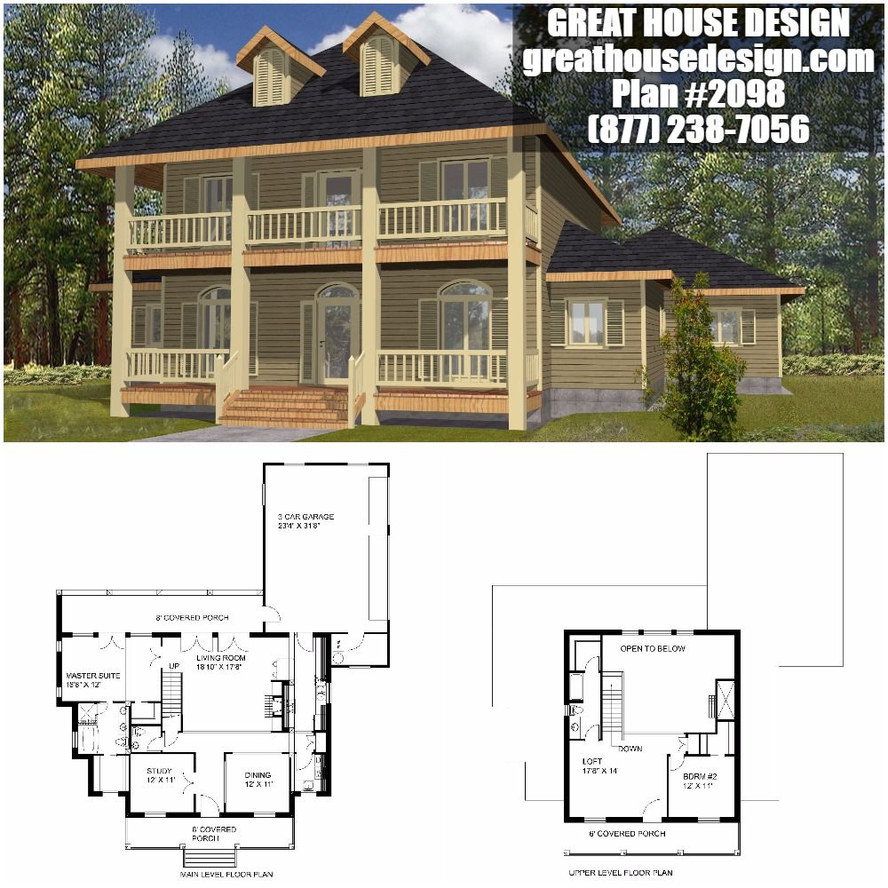 Southern ICF House Plan # 2098 Toll Free: (877) 238-7056 | Insulated ...