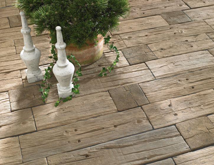 Terrassengestaltung Der Logsleeper Platten In Antik Braun