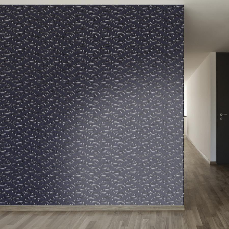 Tzekel Kan Art nouveau pattern, Wallpaper, Peel, stick