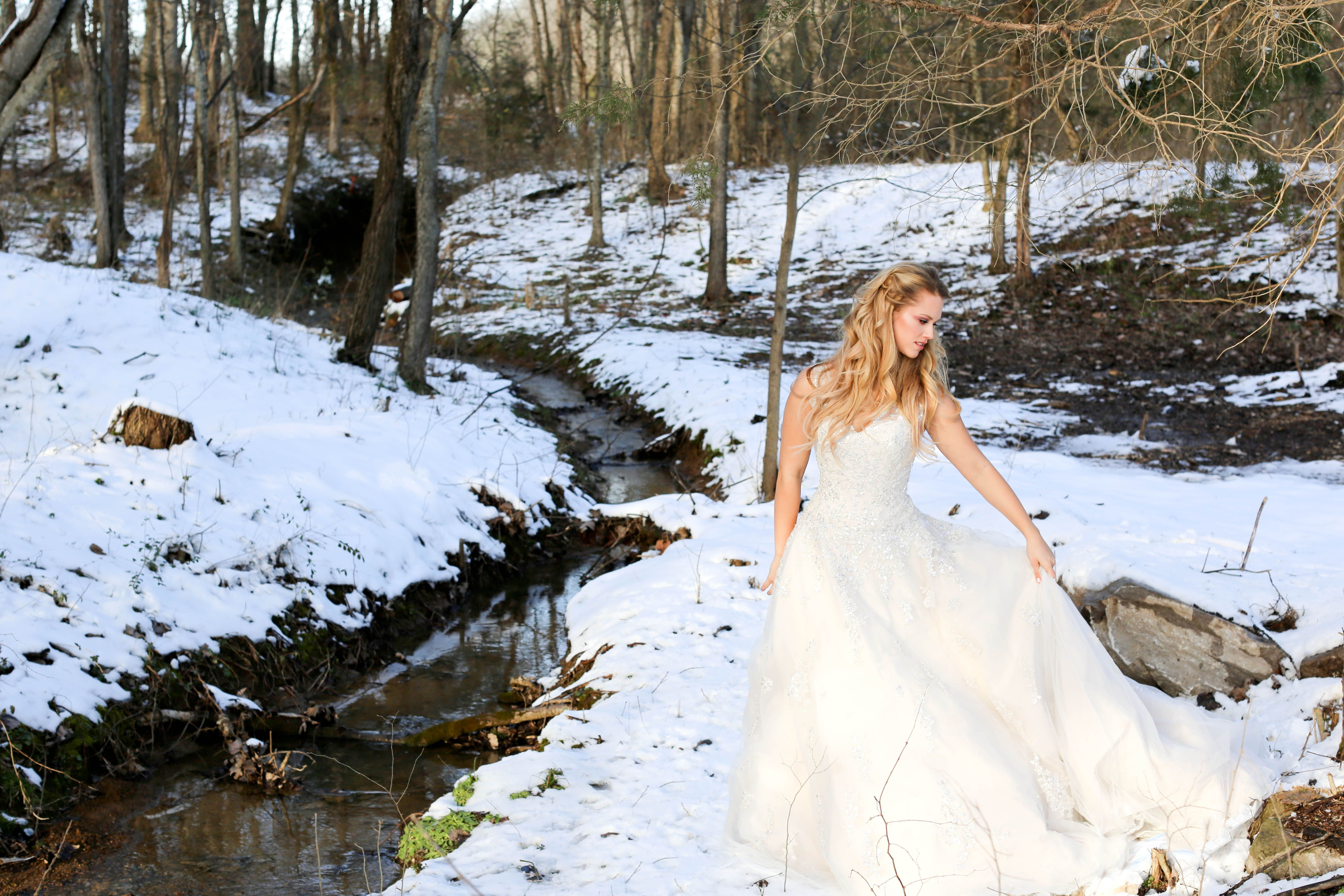 Fairy Tale Bride in her Winter Wonderland. Planning and