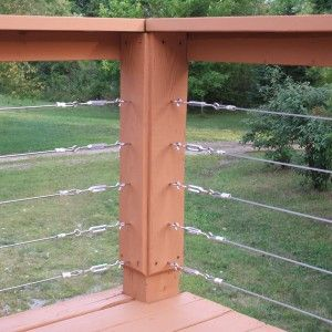Best Deck Railing Ideas With Vinyl Handrail And Cable Railing 400 x 300