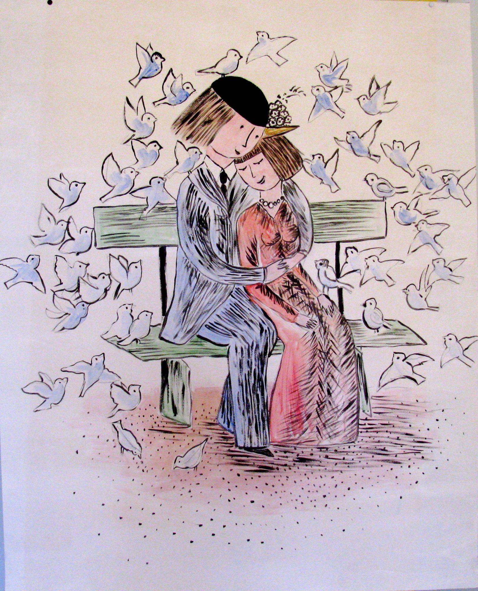 les amoureux de peynet illustrations - Google Search | ペイネ
