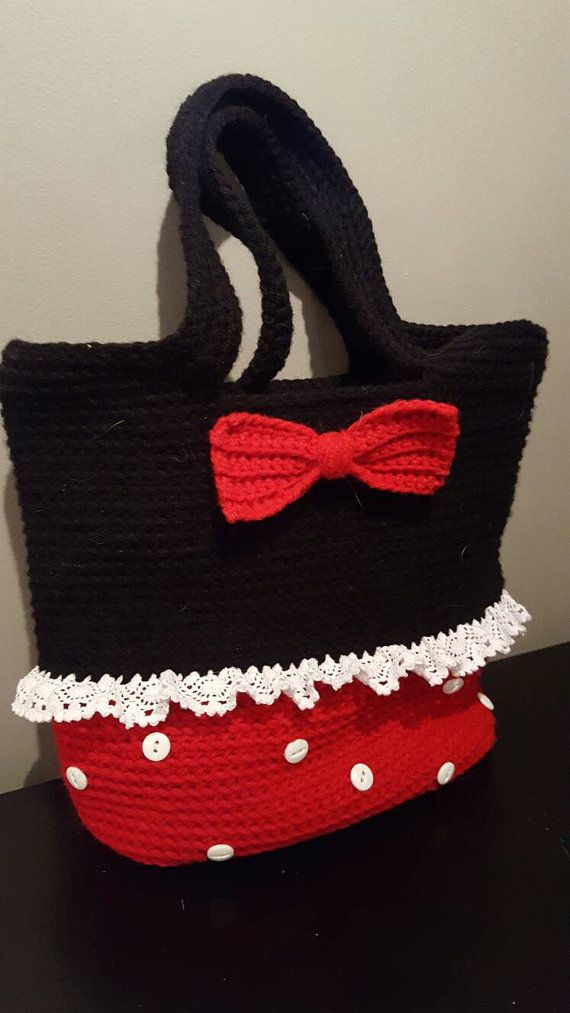 Minnie Mouse Inspired Crochet Tote Bag | Pinterest | Minnie mouse ...