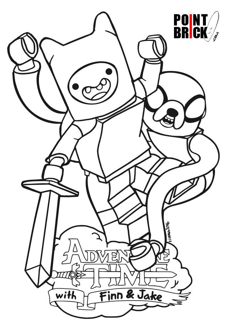 disegni da colorare lego dimensions adventure time - finn & jake ... - Adventure Time Coloring Pages Finn