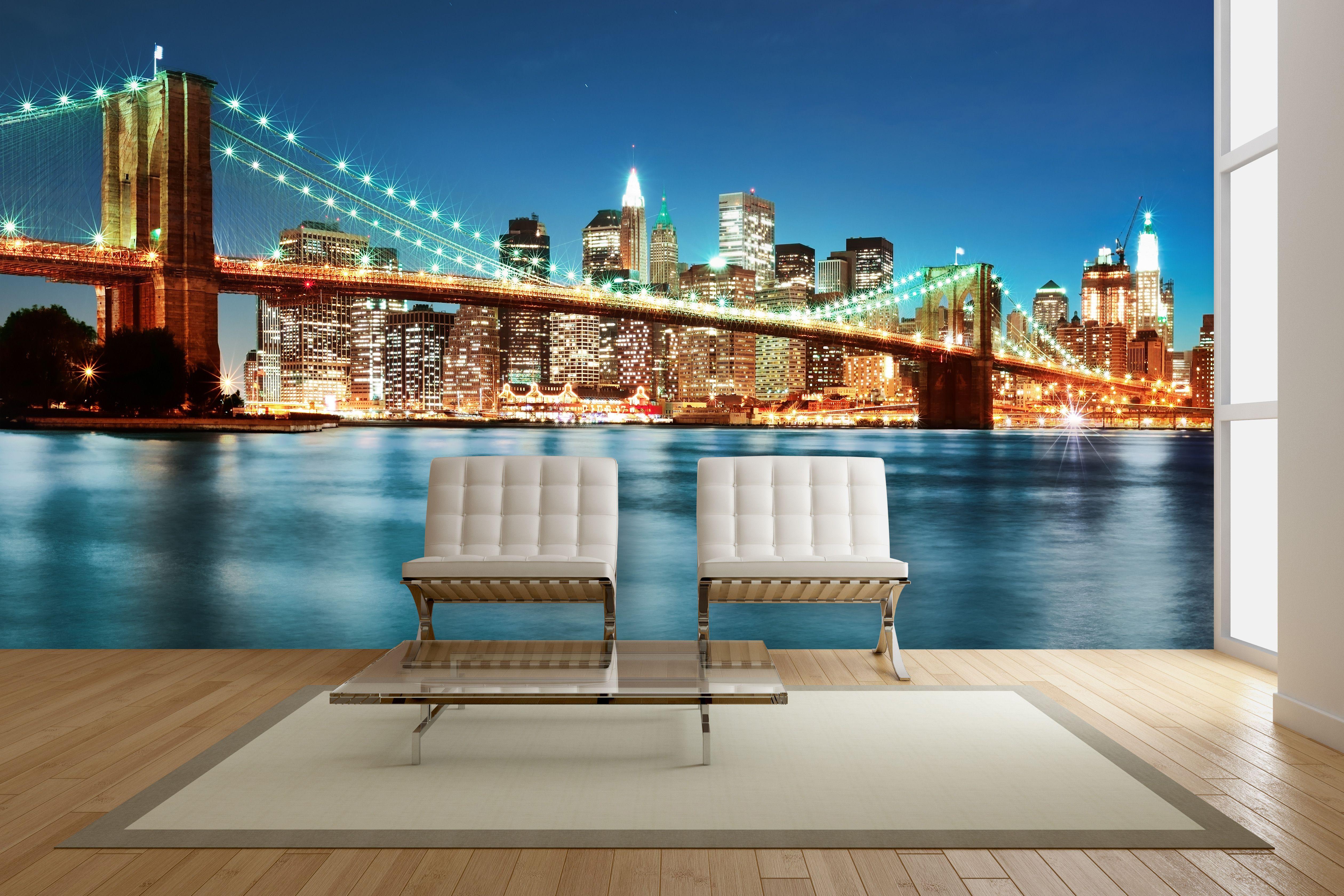 Brooklyn Bridge By Night \\ New York \\ Digital Download