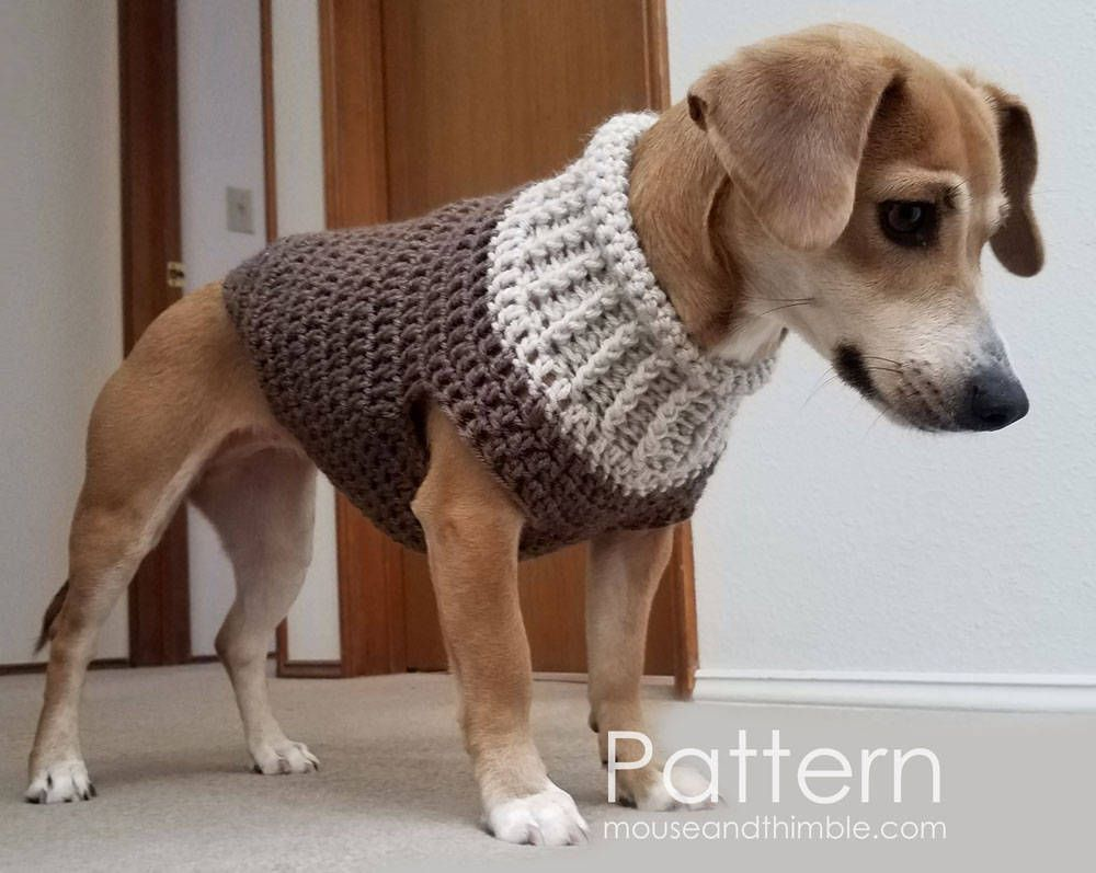 POOCH PLUS  KNIT DOG SWEATER PULL OVER with TURTLE NECK