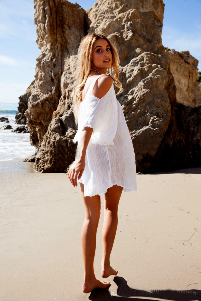 d19699539a461 Only $19.11 - Awesome New Woman Beach Dress swimwear cover up Sexy Swimwear  Summer White Beach