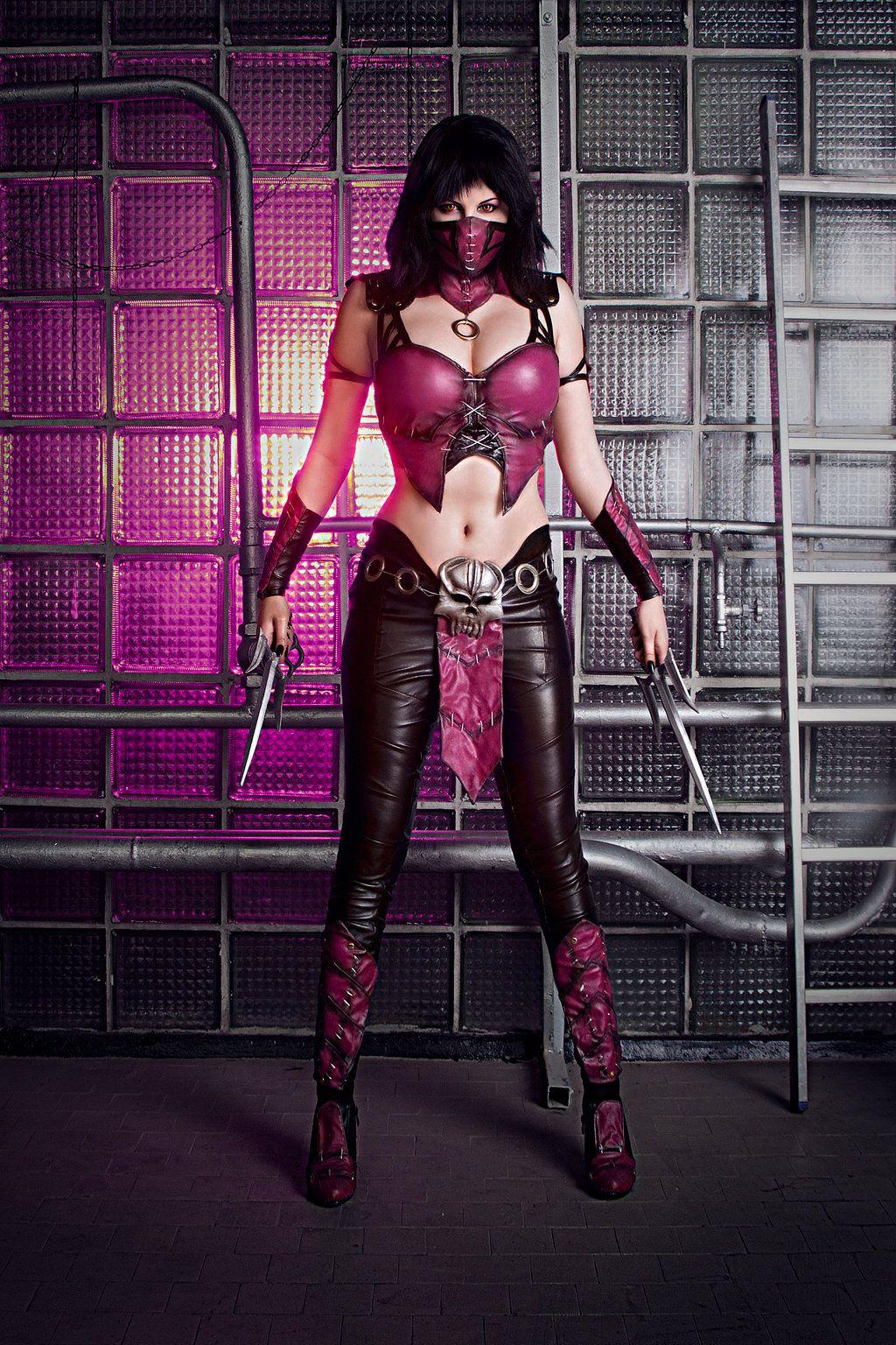 Mileena (Flesh Pit Skin) Cosplay - Mortal Kombat 9 by