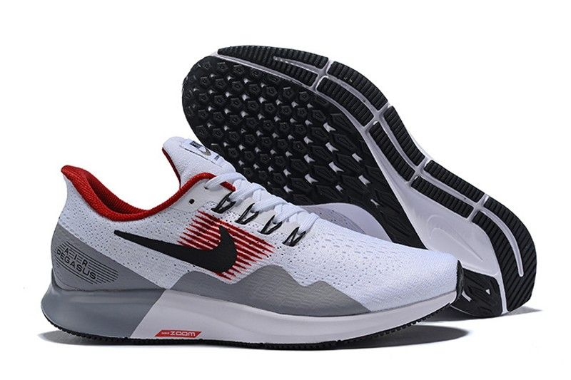 reputable site 643b9 64f11 Nike Air Zoom Pegasus 35 Men s Sports Life Classic Shoes AQ2792-005  White Wolf Grey-Black