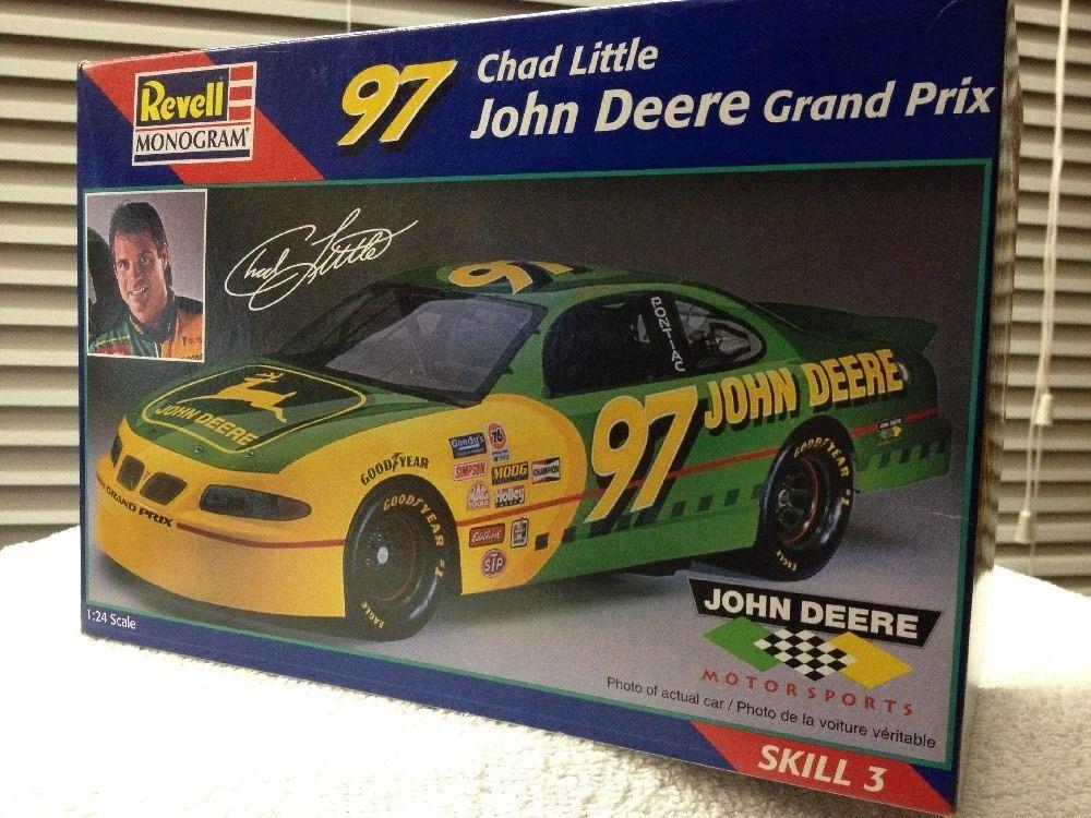 Revell Chad Little John Deere Pontiac GP NASCAR 1/24th Model Kit  1998 Rls #RevellMonogram