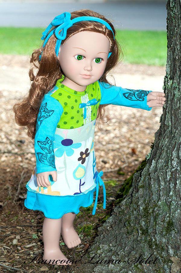 A personal favorite from my Etsy shop https://www.etsy.com/listing/467880675/18-inch-doll-dress-fall-winter-aqua