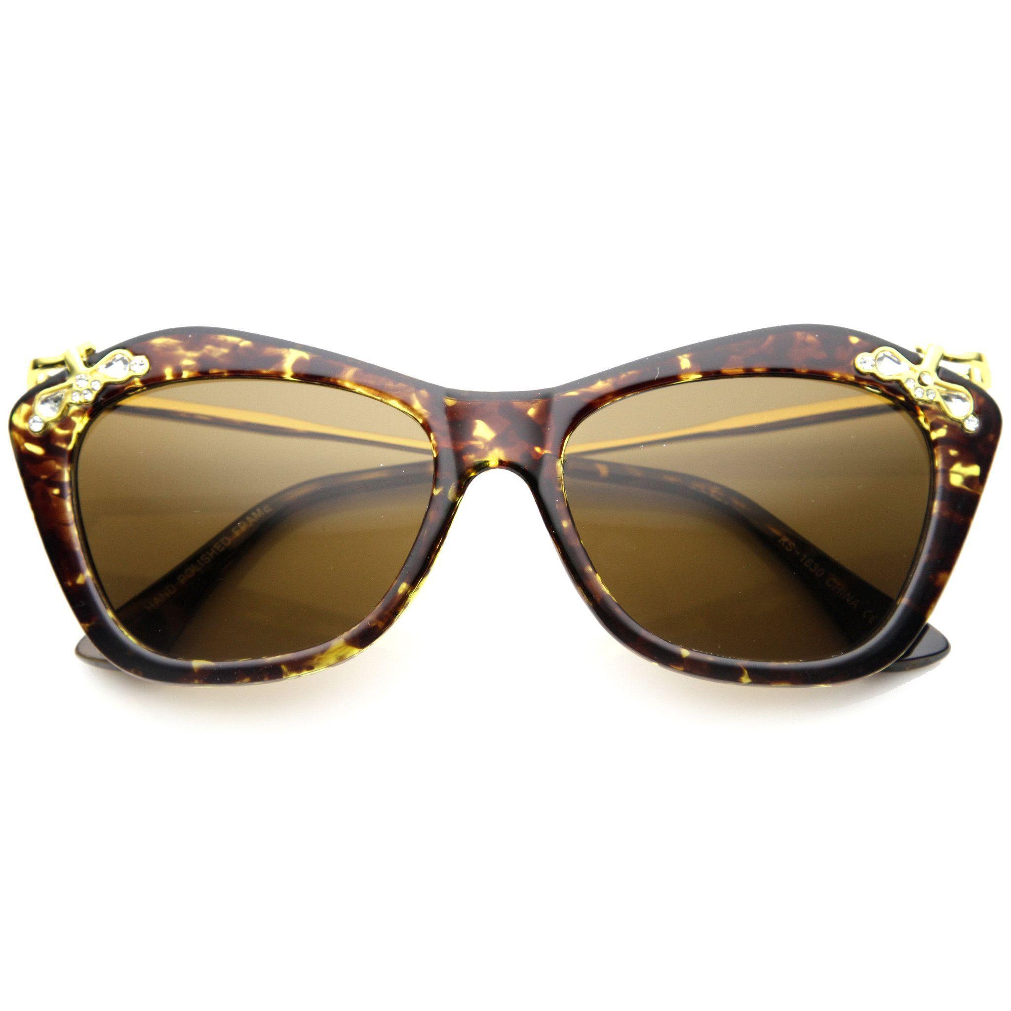 Women\'s Elegant Designer Cat Eye Jeweled Sunglasses 9759   Cat eyes ...