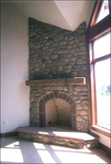 Rock Corner Fireplace Ideas Natural Stone Corner