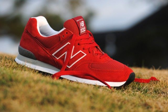 red new balances 574