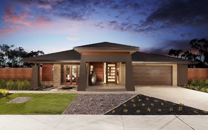 Fairhaven Pagoda Facade, New Home Designs   Metricon