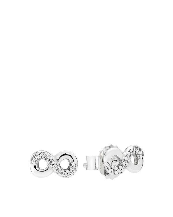 41bc636c4 Pandora Stud Earrings - Sterling Silver & Cubic Zirconia Infinite Love