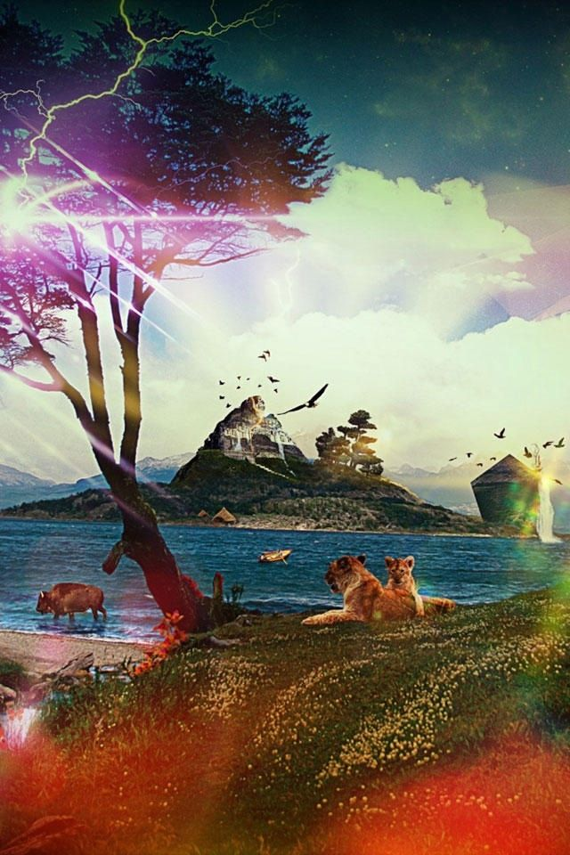 Hd Fantasy Landscape Apple Iphone Wallpapers Iphone Wallpaper