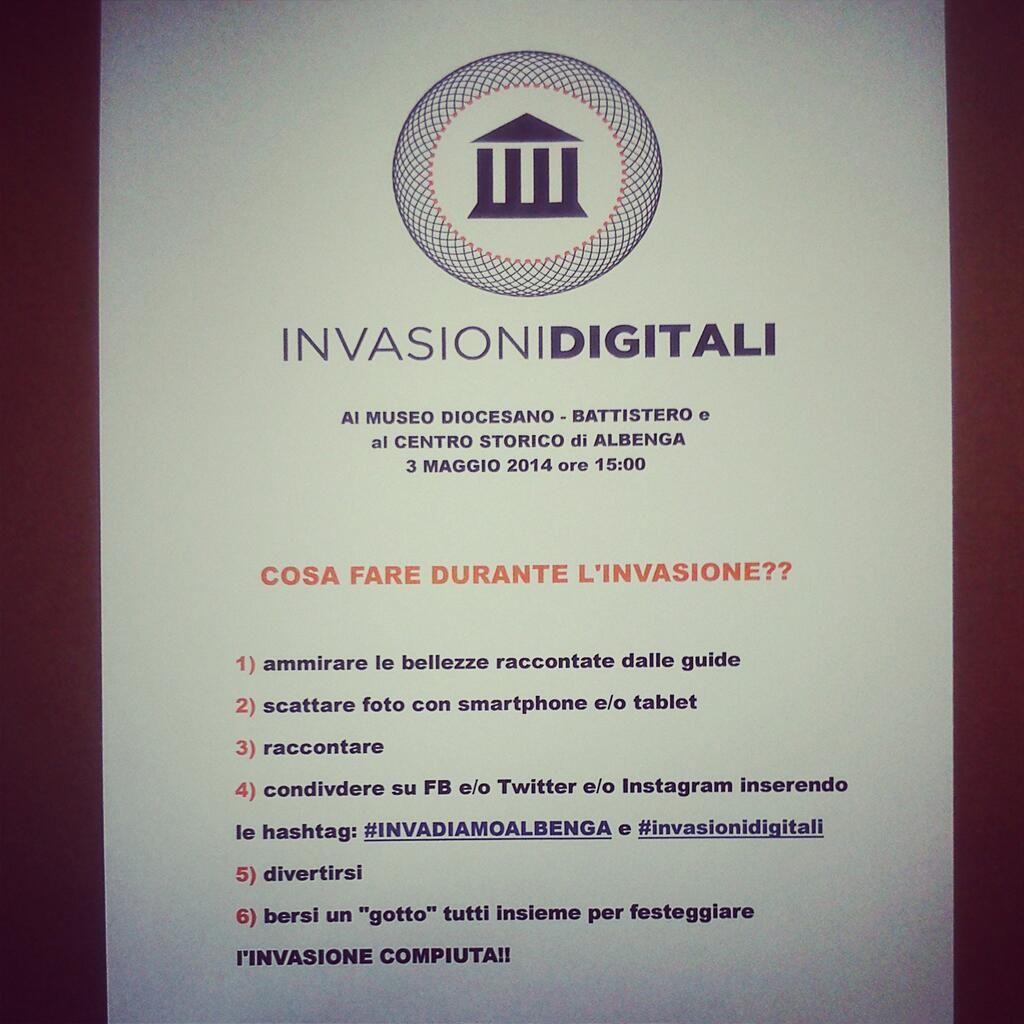 Poche regole per partecipare alle #invasionidigitali ed essere un vero INVASORE!