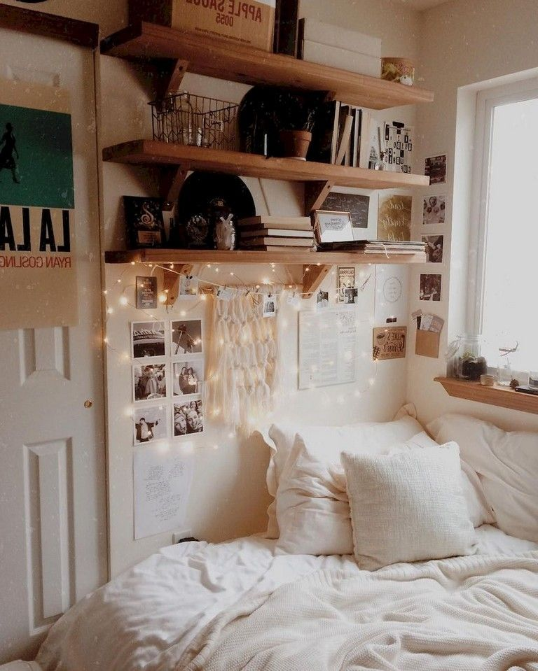 46 Sweety Dorm Room Decorating Ideas On A Budget Small Room Interior Dorm Room Decor Diy Apartment Decor