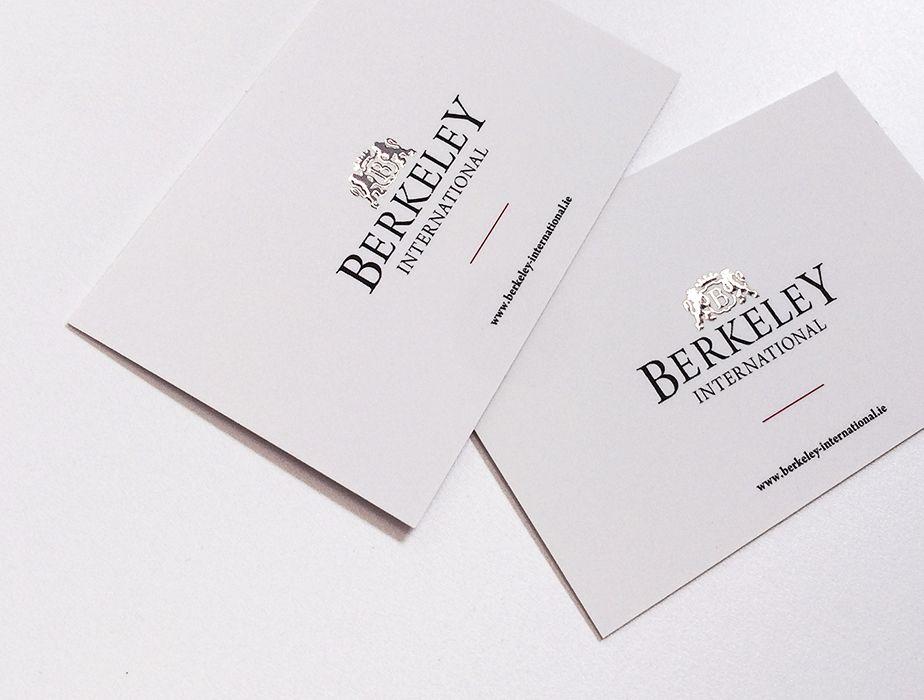 Silver foil business cards for berkely international we offer are you looking for foil business cards we offer gold and silver foil business cards in dublin ireland see our foil business card prices here reheart Gallery