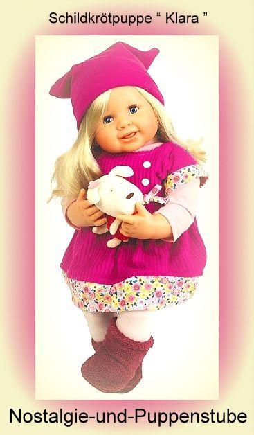 Schildkrötpuppe Klara im Cordkleid pink mit Mütze,... nur 129.00 EUR