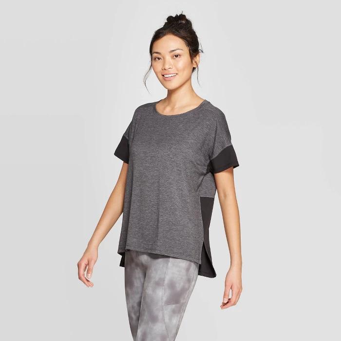 Women's Short Sleeve Woven Pieced T-Shirt - C9 Champion® : Target | Activewear  tee shirts, Workout tops for women, Workout tops