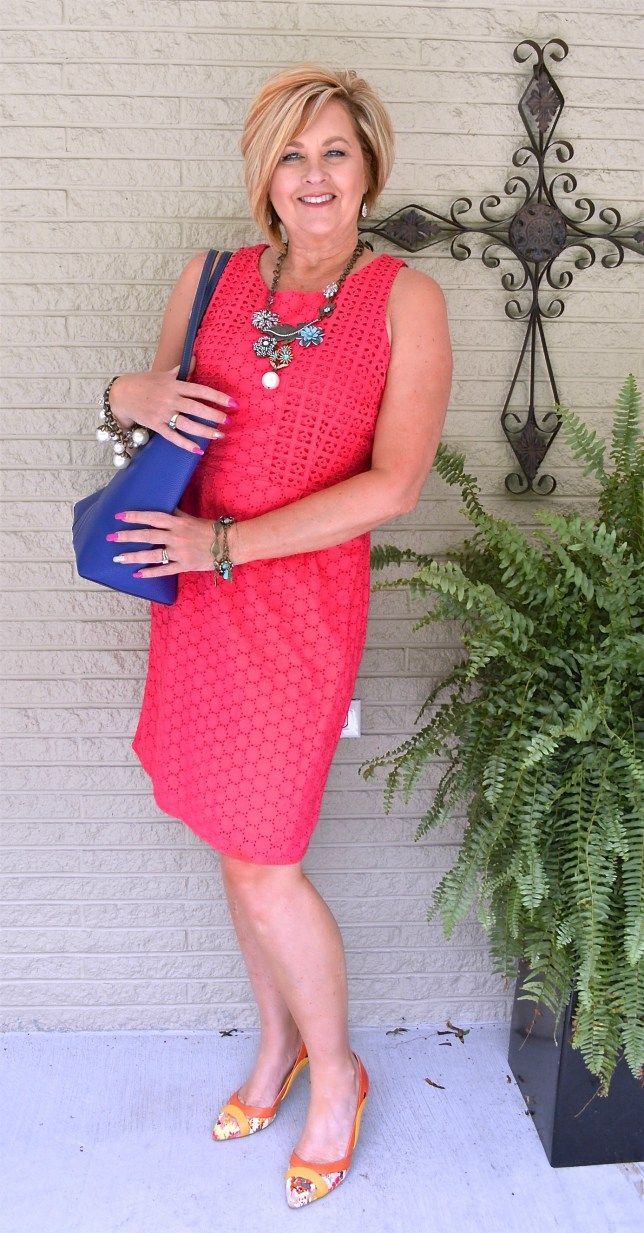Above The Knee Dress 50 Is Not Old Fashion Over 40 Fashion Clothes Women Hot Pink Fashion [ 1233 x 644 Pixel ]