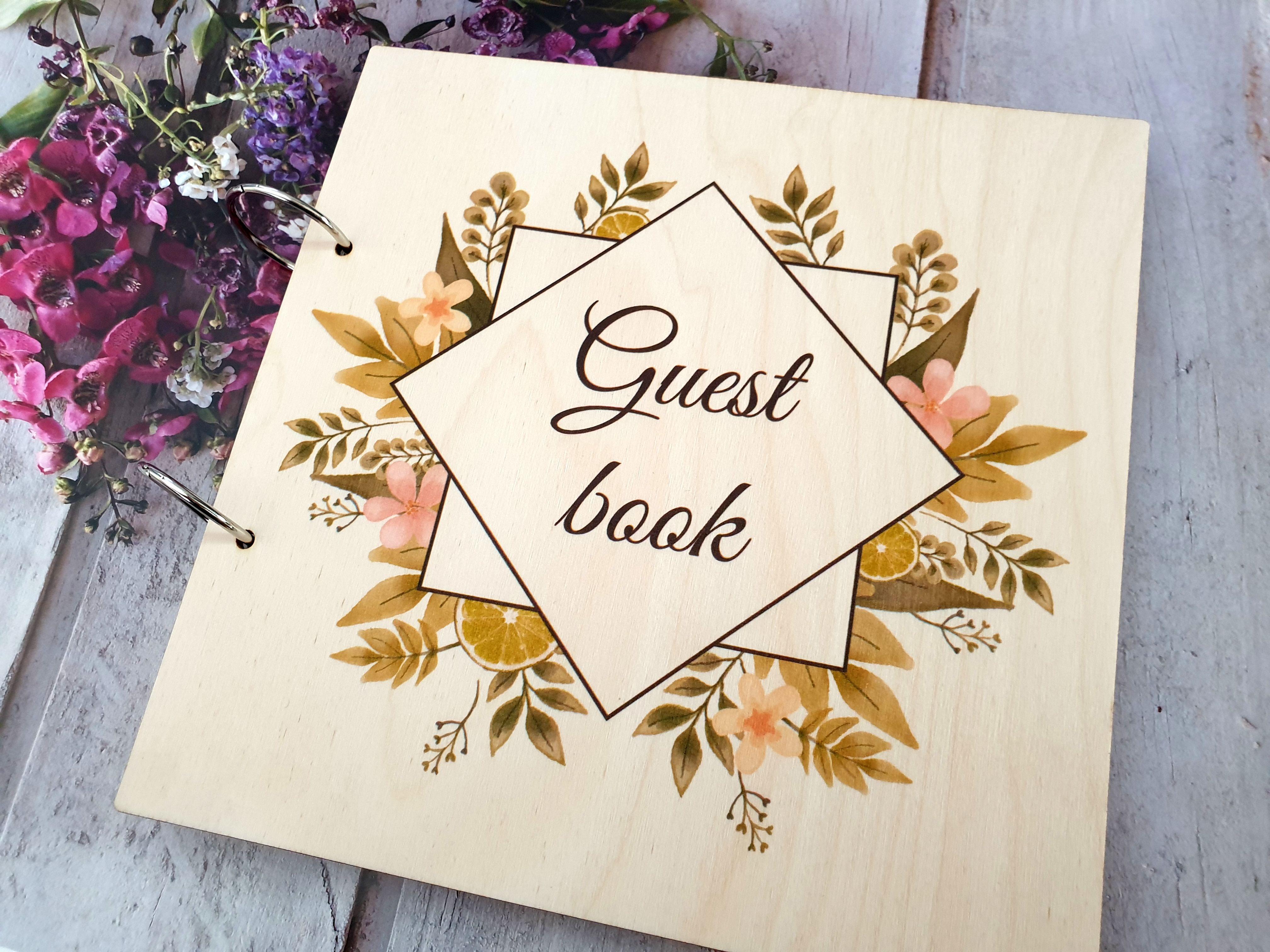 Custom wedding wishes book instant photos album