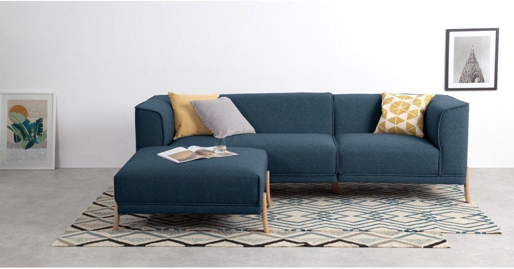 Magnus Right Hand Facing Corner Sofa Group Orleans Blue Canape Angle Mobilier De Salon Et Idee Deco Maison
