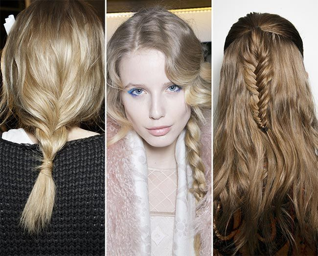 Fall Hairstyles Glamorous Side Braid And Fish Tail Hairstyle For Fall Winter 2014 600X481 Best