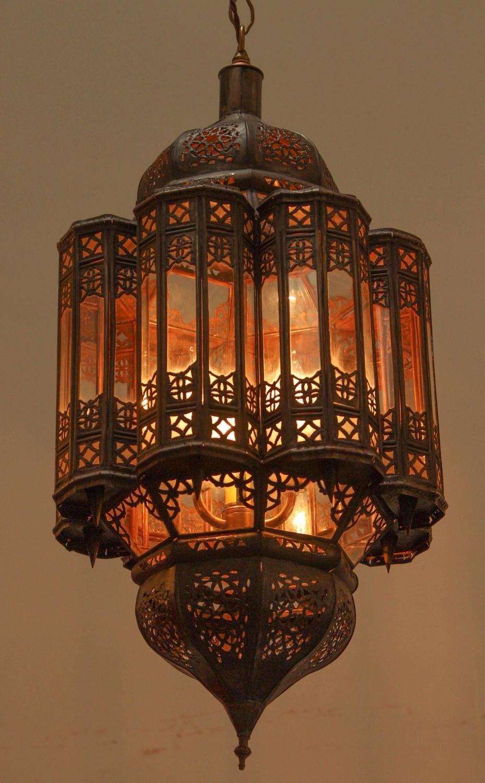 Moroccan Moorish Hand Crafted Lantern Mamounia Light Fixture Clear