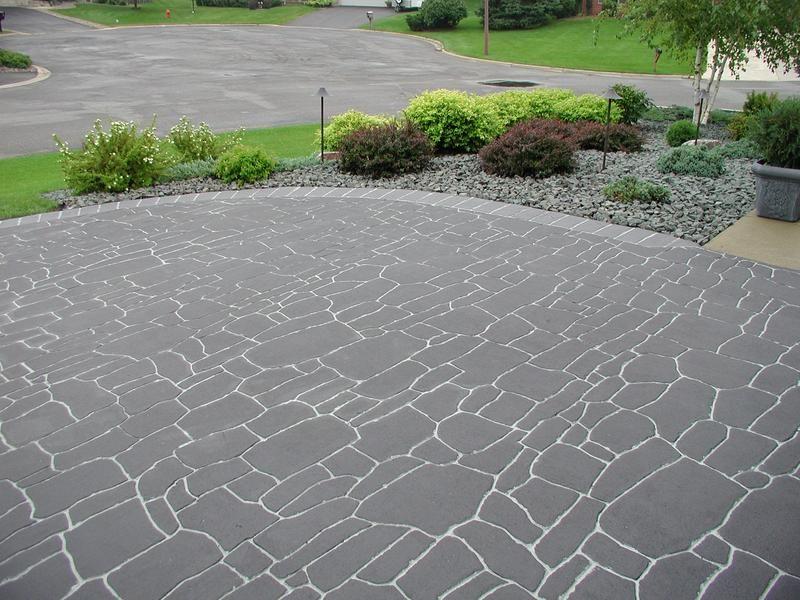 Stamped Concrete Pavement : Streetprint stamped asphalt driveway random slate