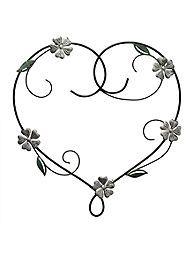 Fetco Home Decor Doris Heart With Flowers Metal Wall Art Floral Wall Art Canvases Flower Wall Art Flower Heart