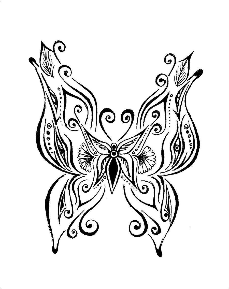 Butterfly Henna Tattoo Designs: Henna Butterfly By Kegome1994.deviantart.com On