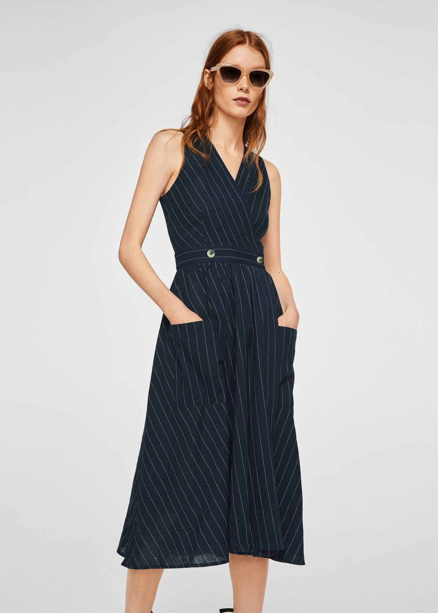 Striped cotton dress Women | Cotton dresses, Dresses
