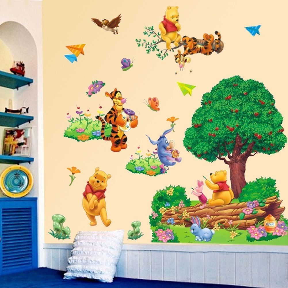 Adorable Winnie The Pooh DIY Wall Decal | Wall decals, Diy wall and ...