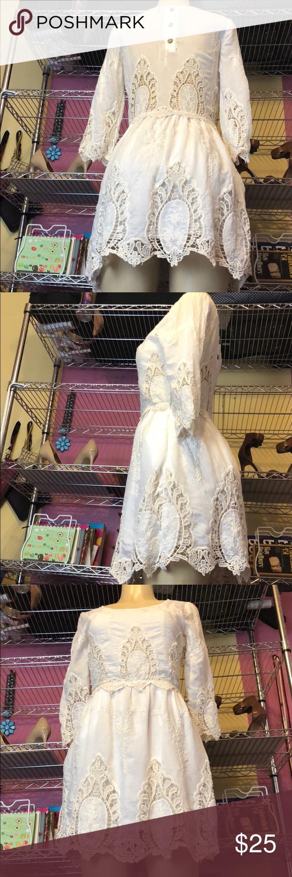 Cream dresses for weddings  Gorgeous Bohemian Cream Dress W beautiful detail in   My Posh