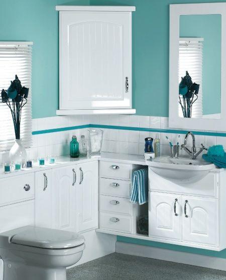 white and greysilver  blue bathroom stylish bathroom