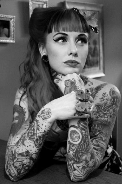 2283a3a58c029 rockabilly girl | Tumblr | Hair | Girl tattoos, Rockabilly tattoos ...