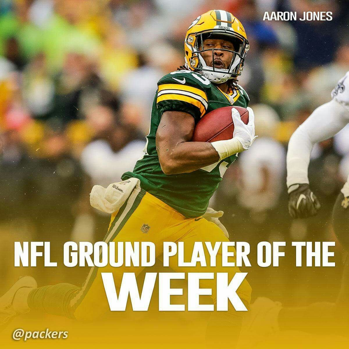 Congratulations Aaron Jones Green Bay Packers Green Bay Packers