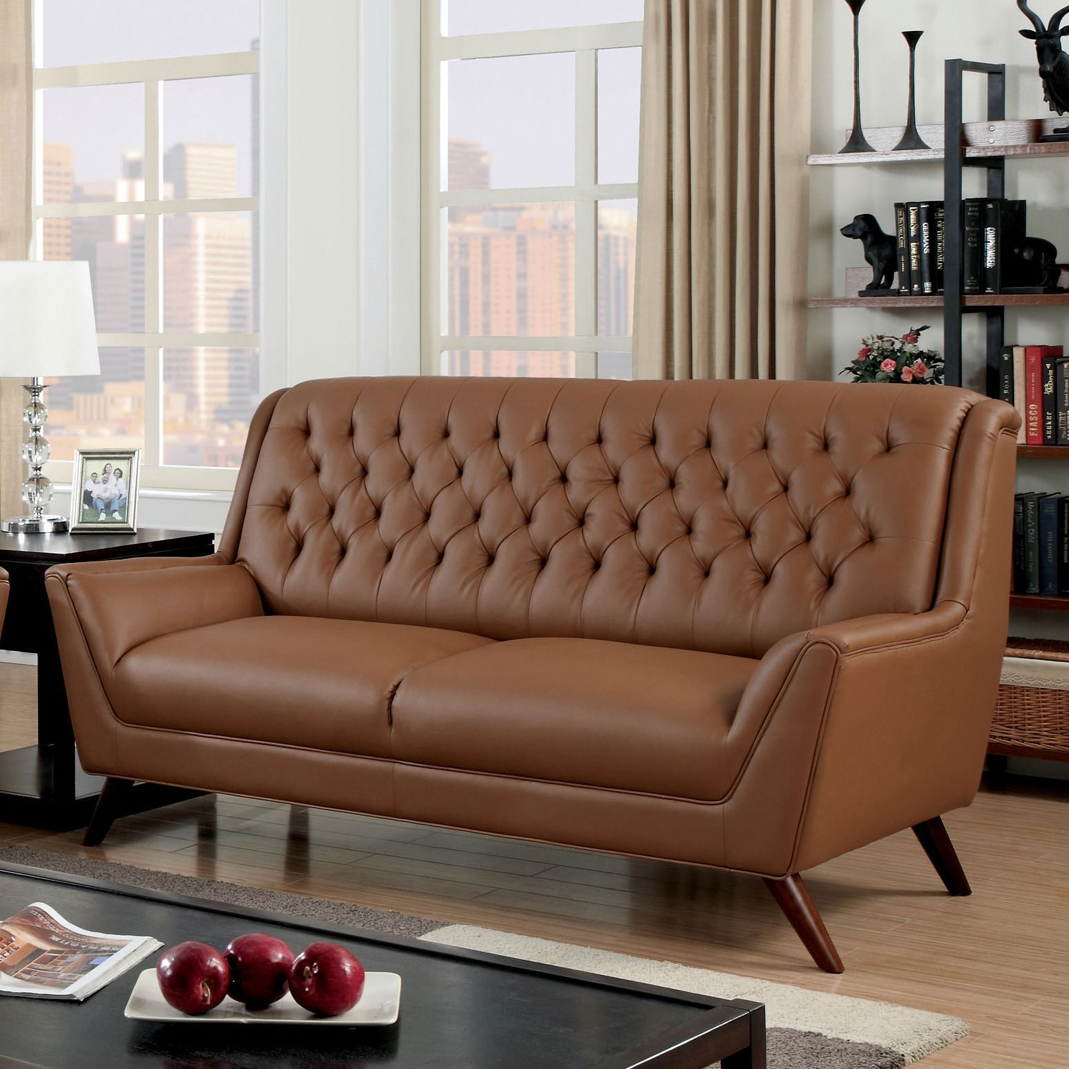 Astonishing Furniture Of America Valentino Mid Century Modern Bonded Gamerscity Chair Design For Home Gamerscityorg