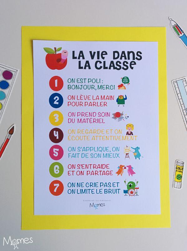 Fabulous Le poster des règles de vie en classe | En classe, Classe et Vie WH89