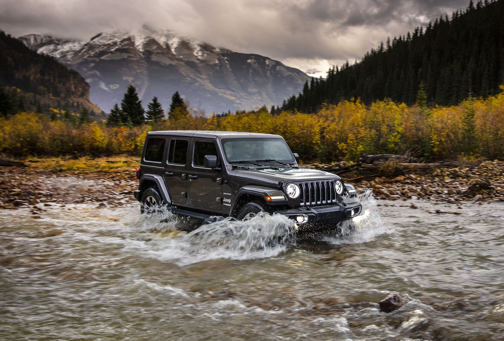 Jeep Wrangler Unlimited Sahara water fording
