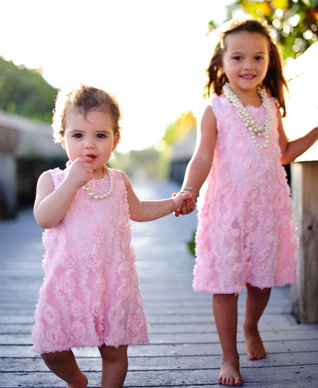 Pink dress baby  PeachyPink Flower Dress