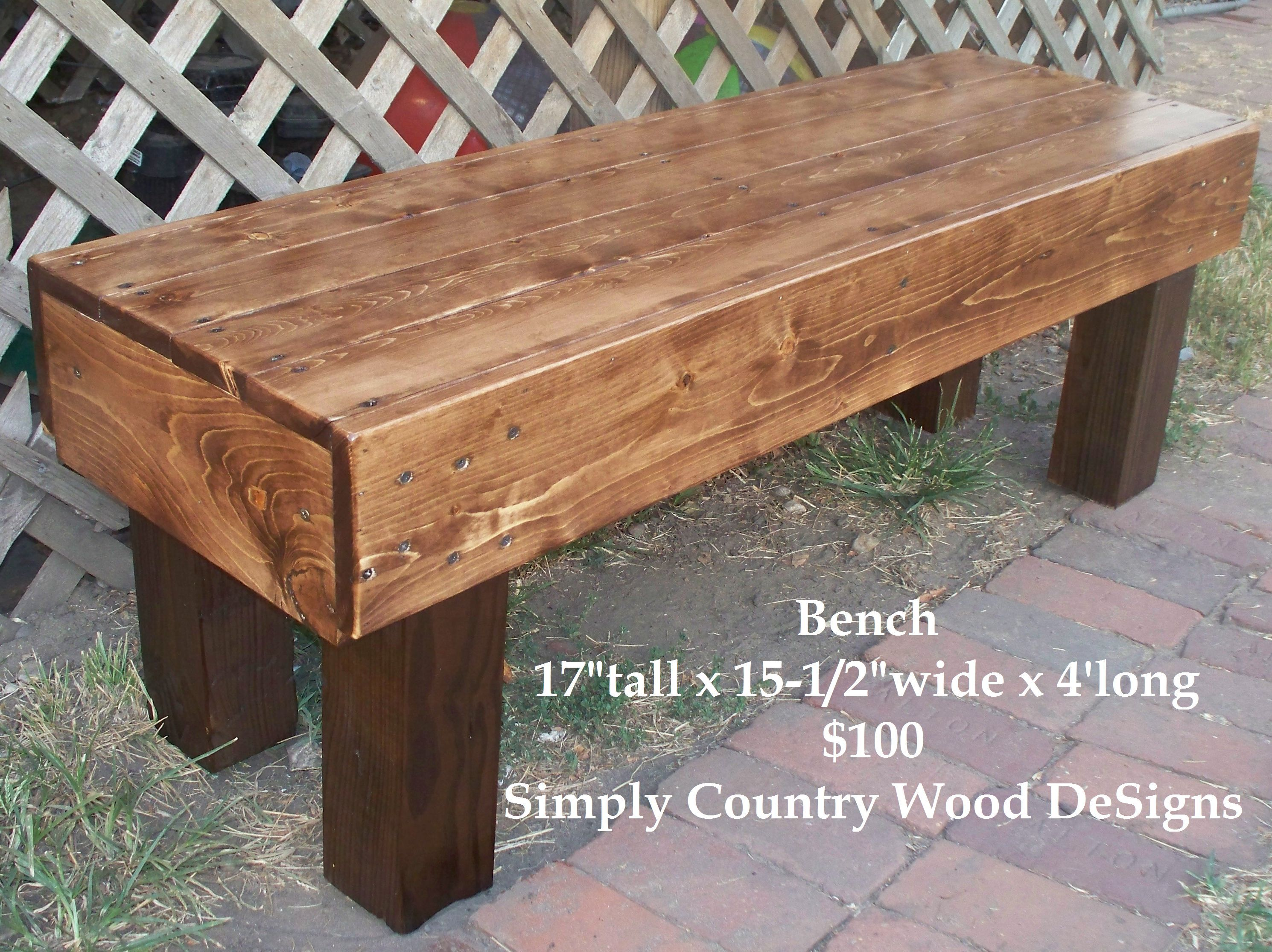 Country Wooden Benches Part - 50: Bench By Simply Country Wood DeSigns