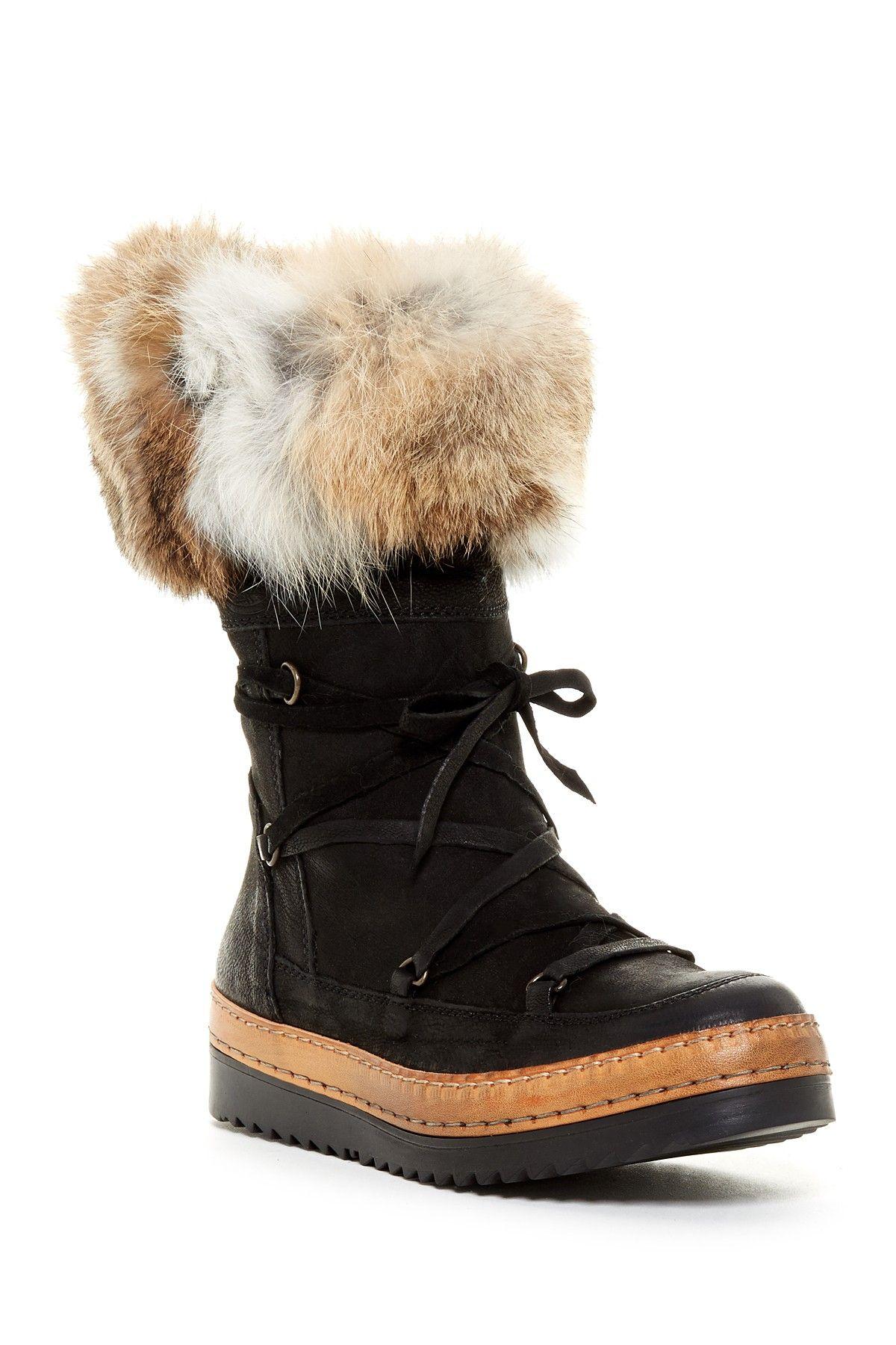 Olli Genuine Ram Fur Cuff Boot by Manas on @HauteLook