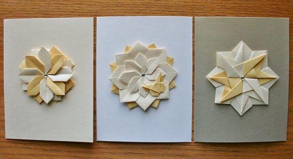 Origami Cardshandmade Card Setseeting By Thepaperdecor On Etsy