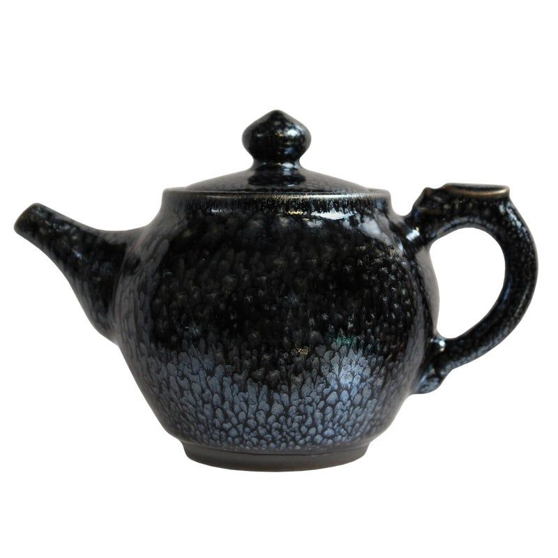 Antique Collectible Chinese Handmade Silver /& Porcelain Inlaid Teapot yellow