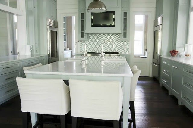 UNIQUE FRESH GREY AND TURQUOISE KITCHEN IDEAS images