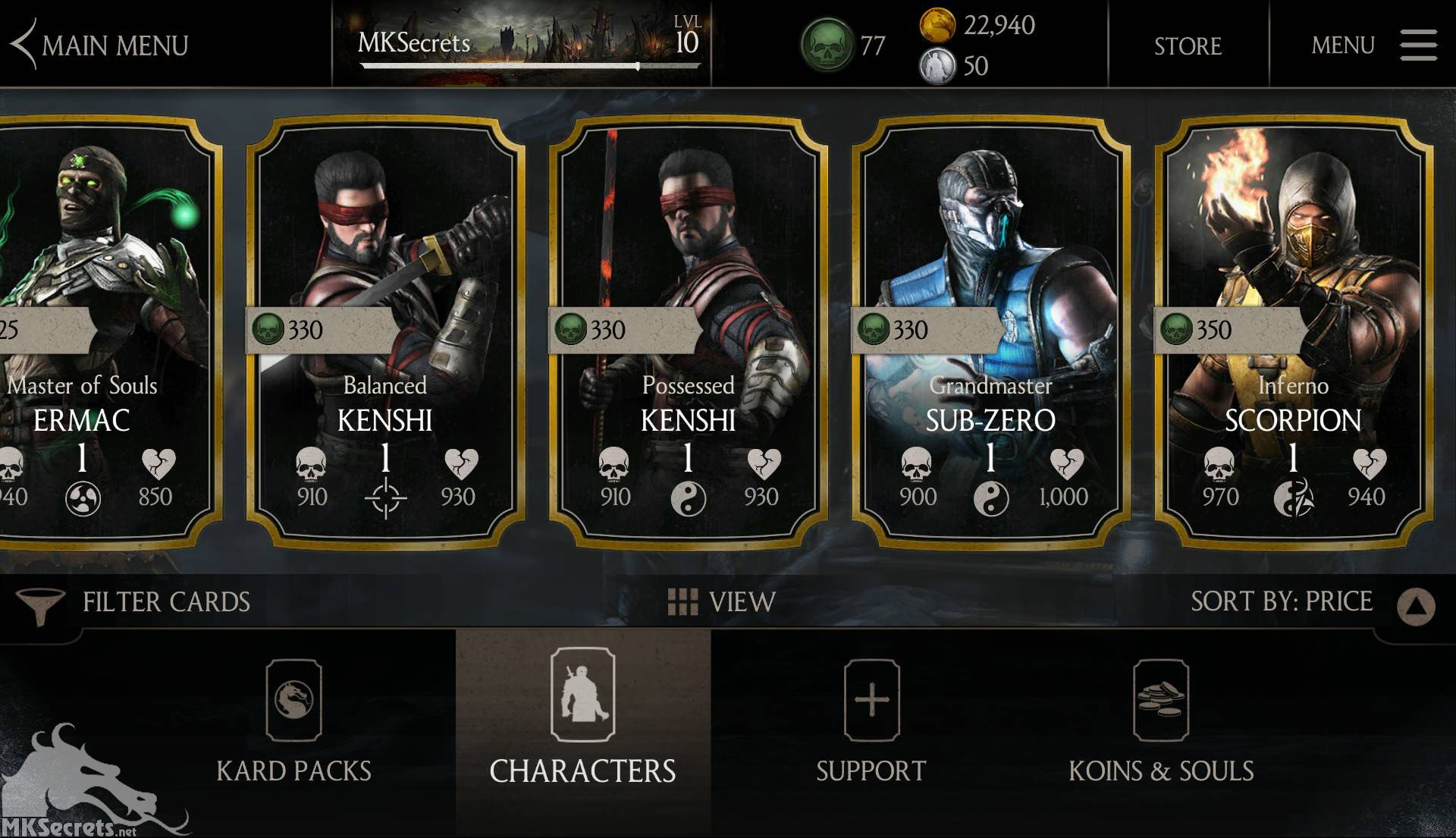 mortal kombat x unlimited koins and souls apk android 1